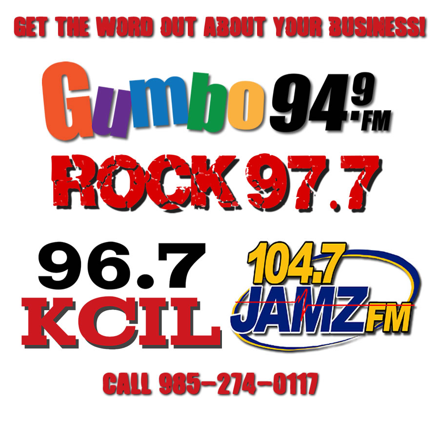Advertise on our Bayou Broadcasting Stations!